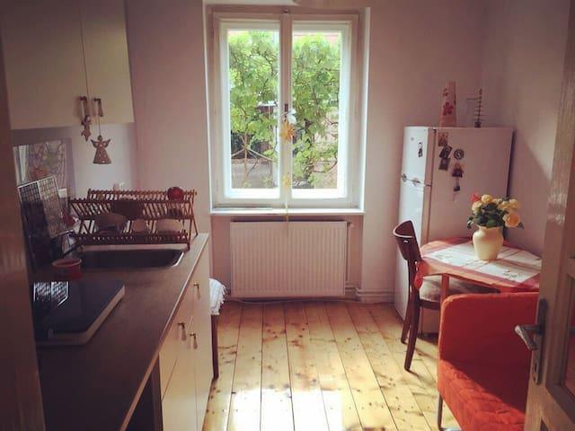 1 bedroom flat with garden