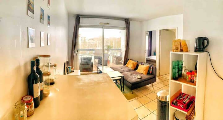 Anglet, Appartement avec balcon, l'Ocean à pied.