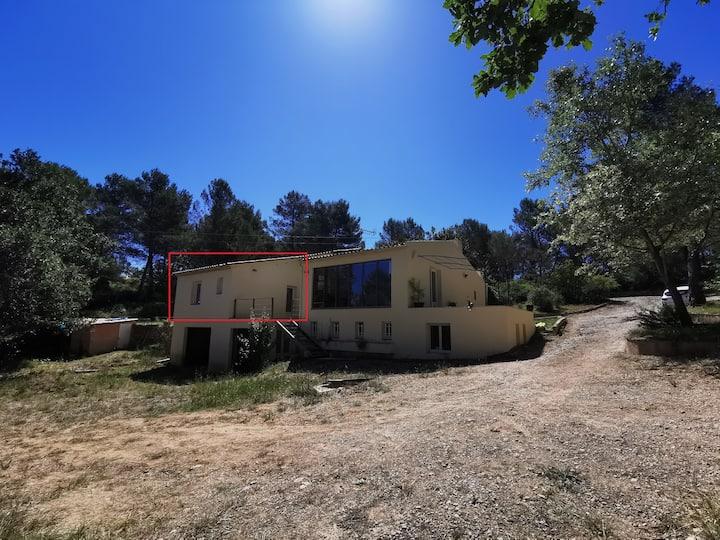 Maison calme, vue St Victoire, proche d'Aix/MRS