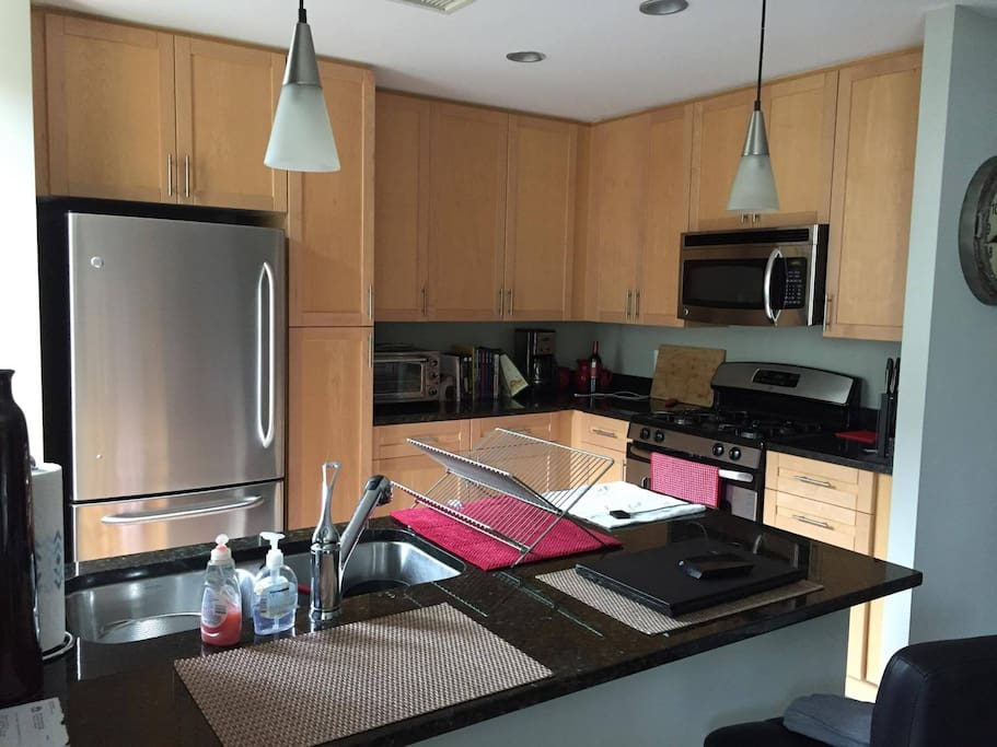 Enjoy full use of the kitchen and gas range