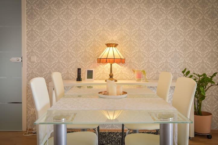 Luxus! Großes Apartment mit 2 Bädern und Garage - Heilbronn - Leilighet