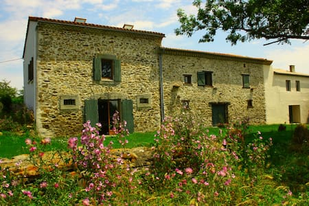 Beautiful renovated farm hse w/view - Labécède-Lauragais - Casa