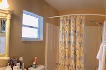 Shared bathroom ( combination of bathtub and shower)