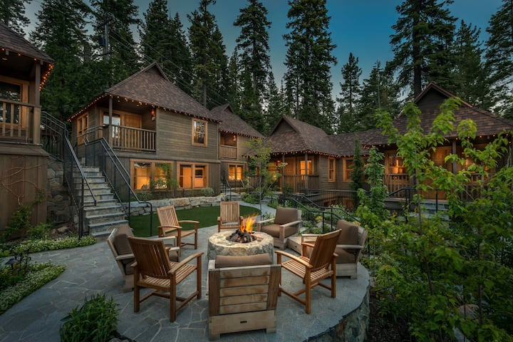 Charming West Shore Cottage on Forested Lot With Private Deck Near Beach and Ski Resort