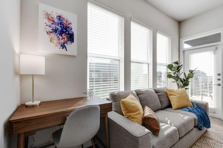 Large windows to invite natural lighting