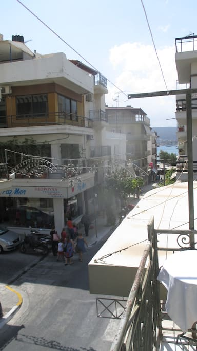 View from the balcony. Main street directing to the beach.