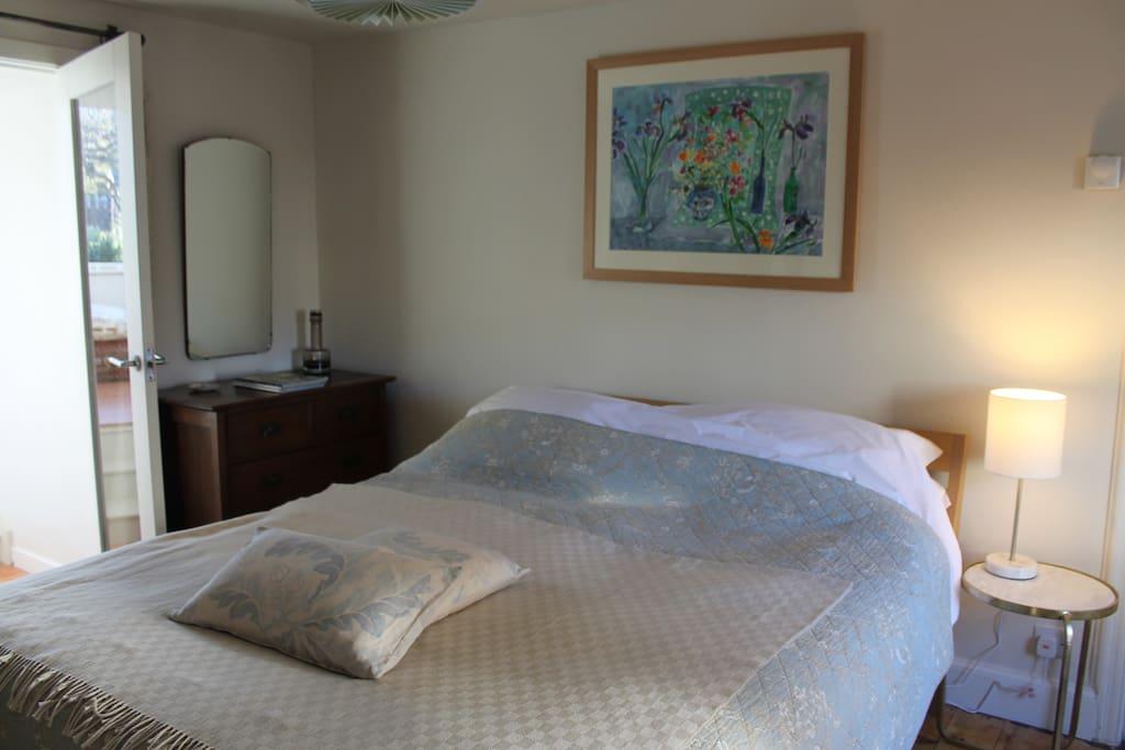 Double bedroom adjoins the sitting/breakfast room.