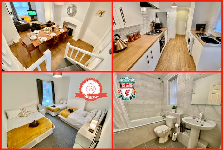 ★DELUXE house by Anfield★FREE PARKING sleeps 8★