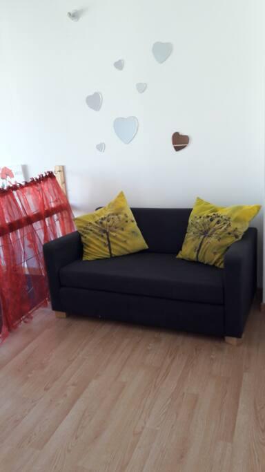 mezzanine avec canapé lit