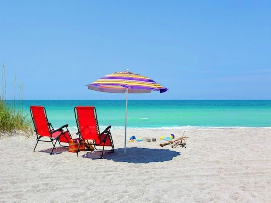Longboat Key beach just across the road from our community