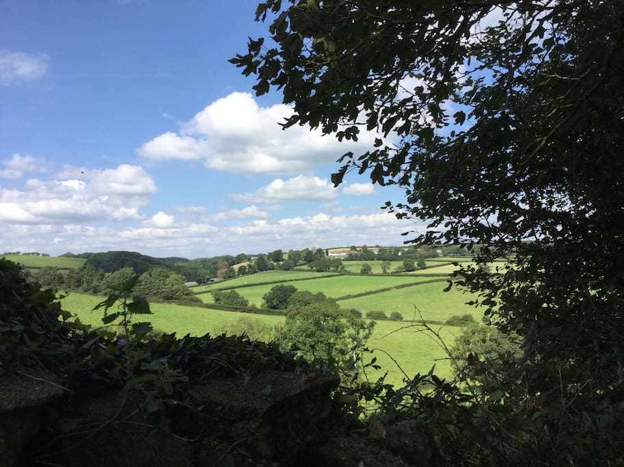 Lovely view back to Iddesleigh on walk to Warhorse Farm