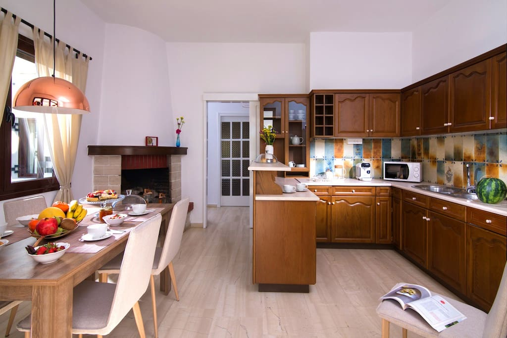 Enjoy a Fully equipped kitchen with espresso machine