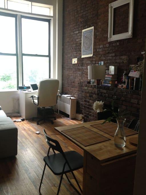 Living room - excellent light