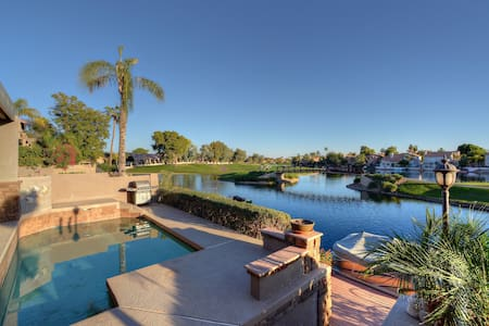 4 BR Home w/ Heated Pool, Golf Course & Lake Views - Chandler - Dom