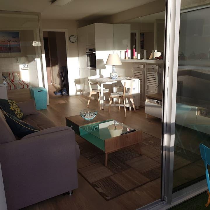 Grand studio double- cabine design 4 à 6 couchages