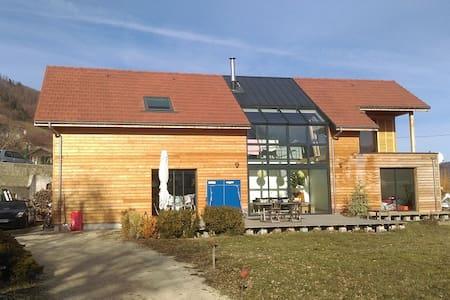 Maison d'archi - 2015 - ossature bois, verrière - Saint-Martin-de-la-Cluze - Hus
