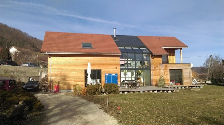 Maison d'archi - ossature bois, verrière - piscine