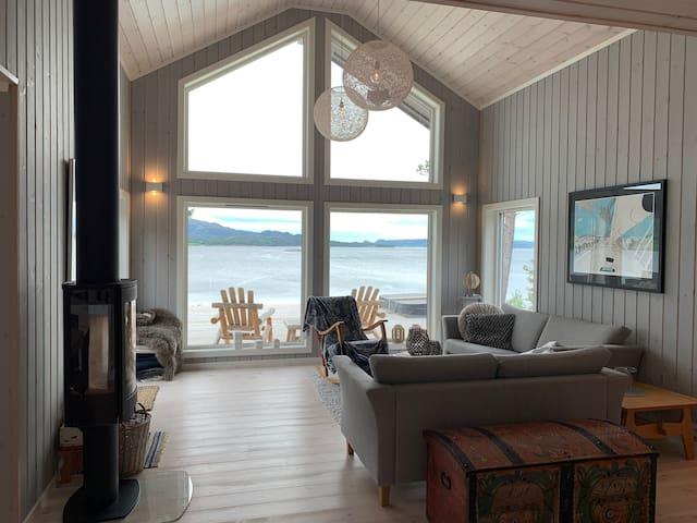 Hytte med panoramautsikt