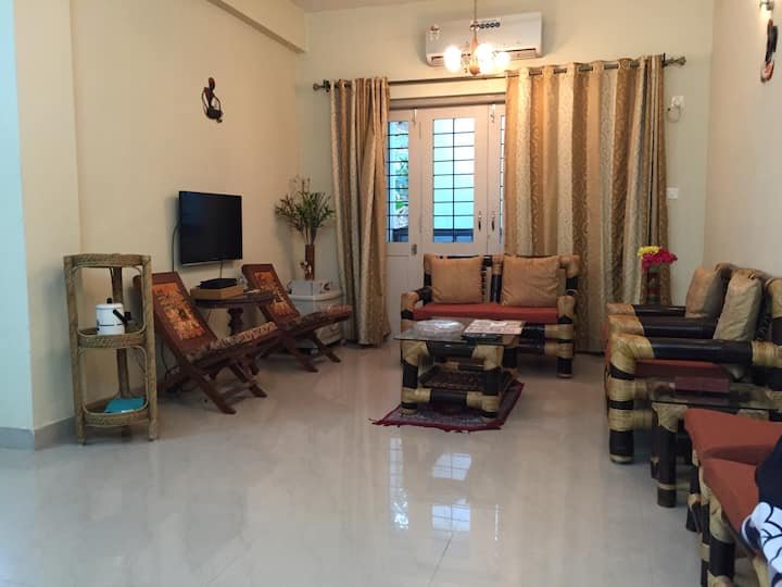 A splendid 2BHK retreat with pool, near the beach