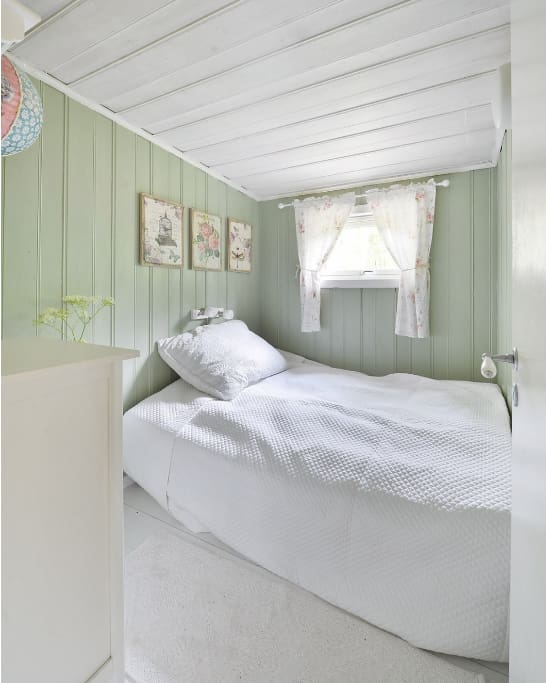 The green bedroom  - bed 1.40 xm