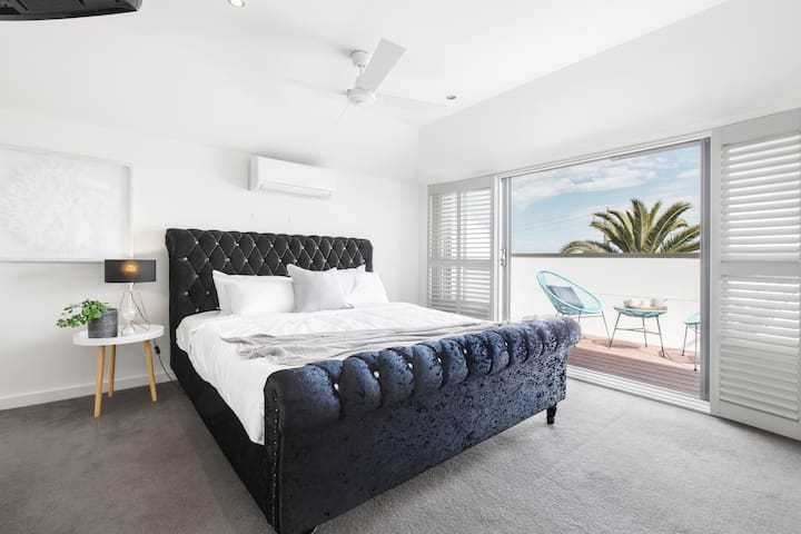 1 of 2 master bedrooms with en-suite. Relax on your very own balcony with sea views.
