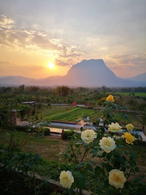 Sunset at Phu Vara, taken from the balcony