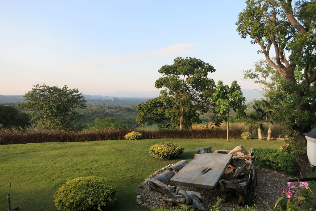 View from the balcony, you can see the panoramic view and also can enjoy the mountain view from our big garden.