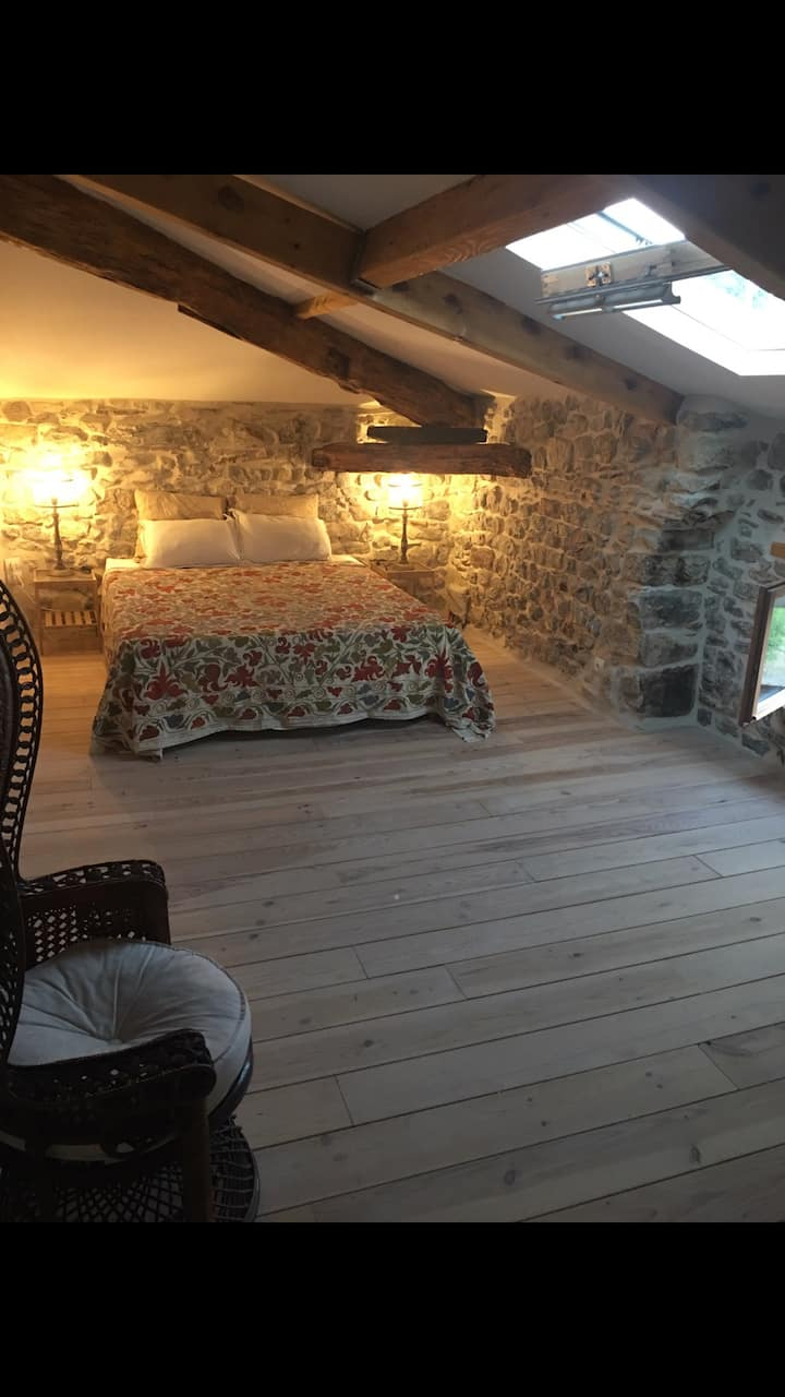 Ardèche BnB Chambre LA BOHÈME Fort de La Bastide