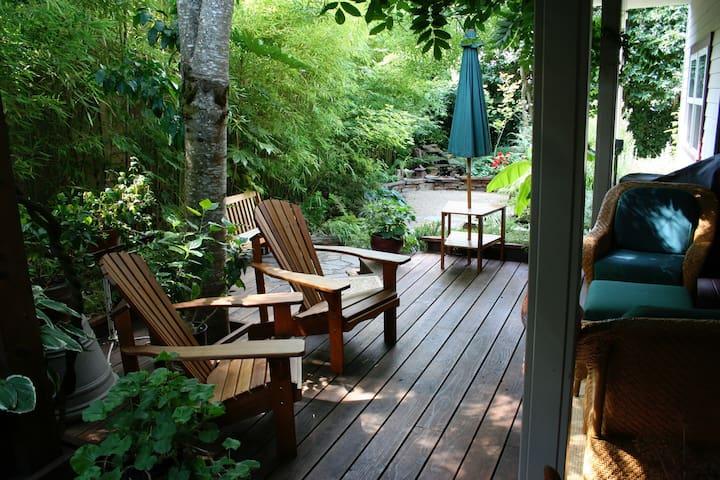 Seasonal shared deck and yard