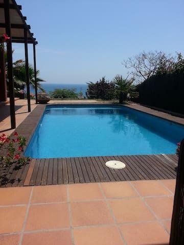 vakantie huis met een prachtig uitzicht op zee