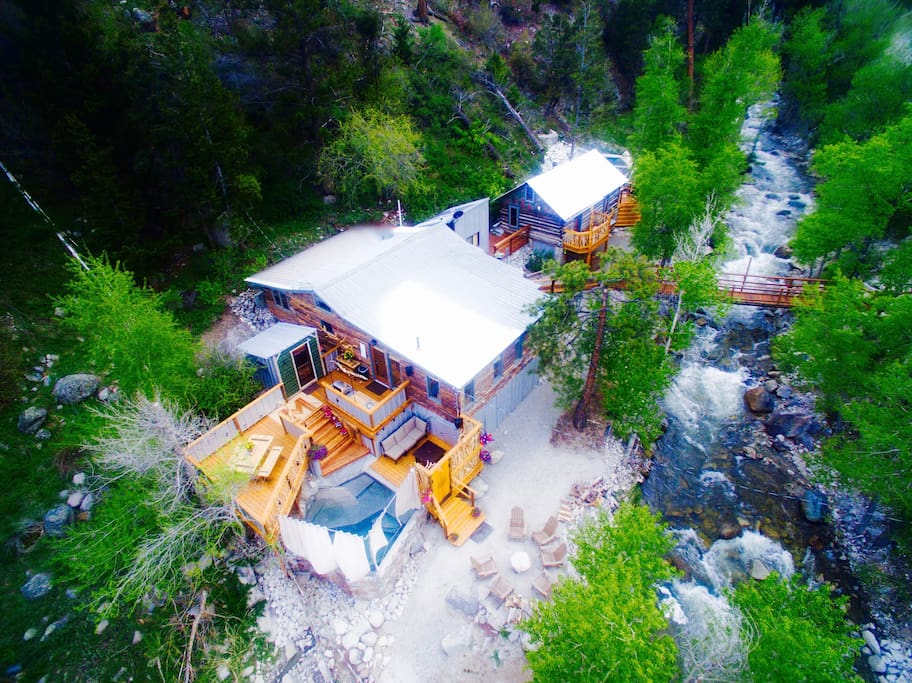 Aerial view of the Merrifield Cabin