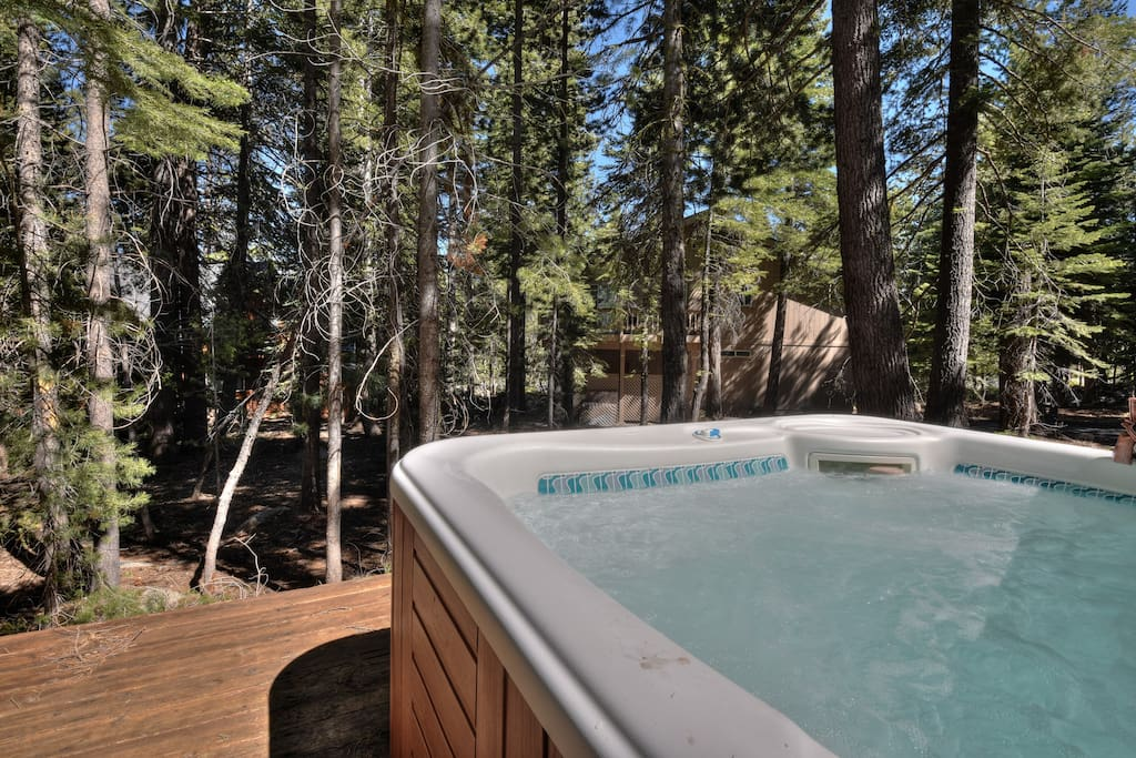 Hot tub on the back deck