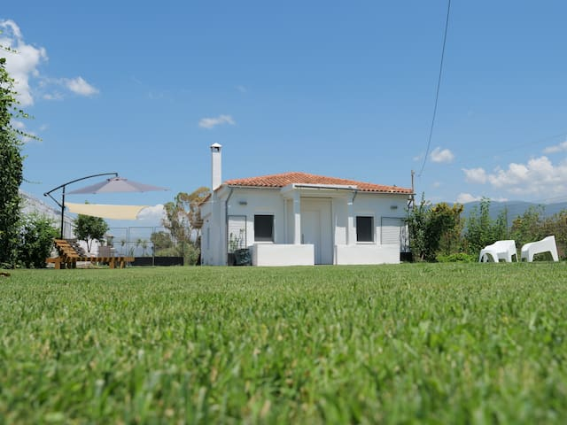 """House in front of the beach. """"Lefko"""""""