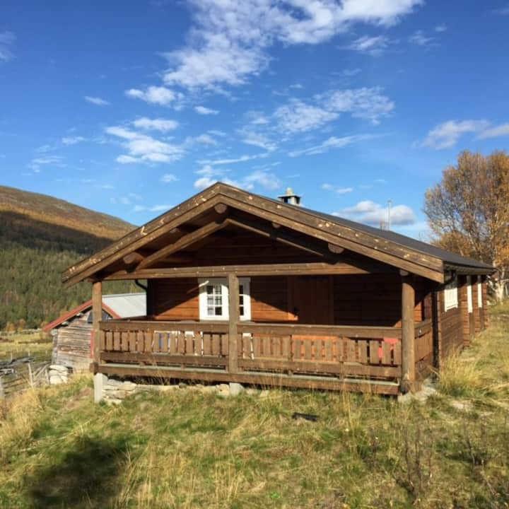 Flott seter i Lordalen i Reinheimen Nasjonalpark