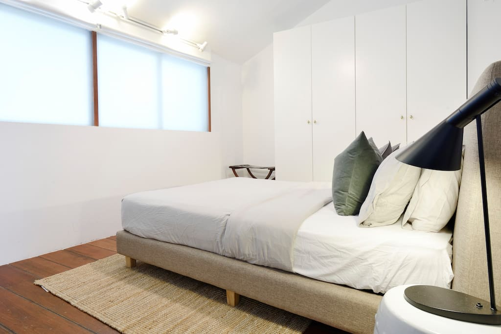 """Joyce (Review) """"Great place in a local district, easy to get around with trains or taxi. Very clean room and nice bed.""""  *Do note that the windows are currently frosted due to glares from the outside, as such, light coming in might be diminished!"""