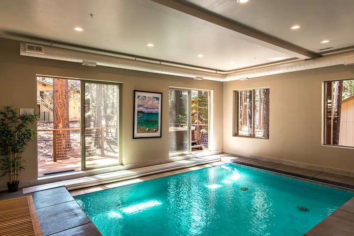Home indoor pool and hot tub  Luxe New 5BR, Indoor Pool & Hot Tub - Houses for Rent in South Lake ...