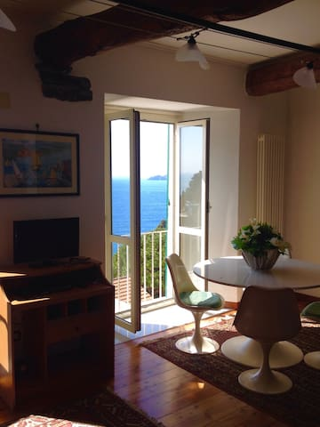 Zoagli vista mare; Charming house with sea view - Zoagli - Appartement