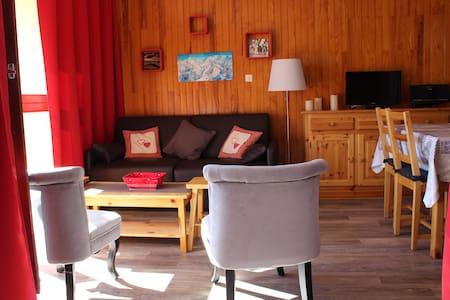 SYBELLES - Grand studio - 180° plein sud au soleil - Fontcouverte-la-Toussuire - Apartament