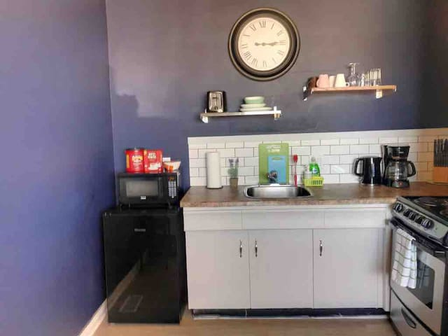 Great Kitchen Space. Fully equipped with everything you may need to cook a great meal or have a quick snack.