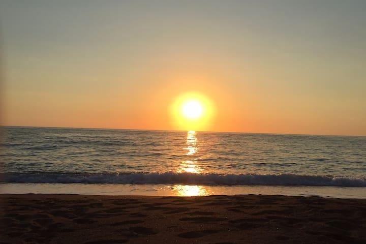 Vounaki Beach at Sunset