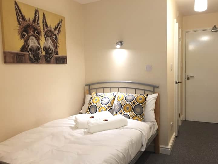En-suite Double Room (2) in modern 3 bed apartment