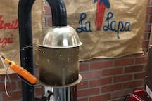 Our 2.5# Air Roaster.  We offer COFFEE ROASTING EXPERIENCE on our FoodForestFarms webstore