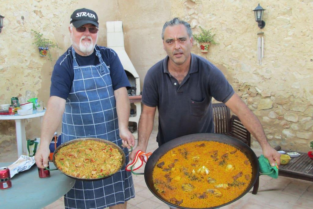Paella Challenge with Jose and Bob