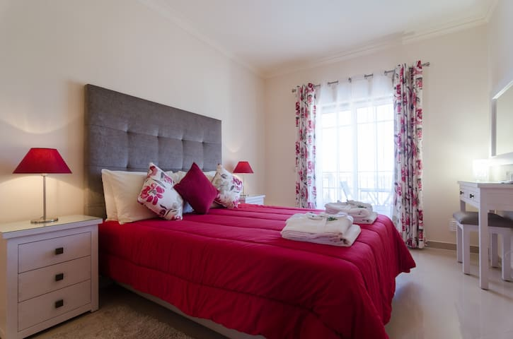 Stylish bedroom with lots of space for your belongings