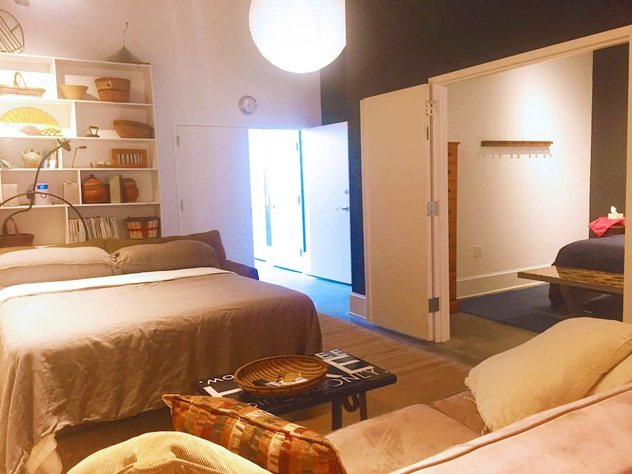 """""""A spacious and comfortable loft in the center of the downtown restaurant and night scene. Part of an art gallery, studio building. Beautifully appointed and fully equipped"""" says recent guest Cindy Lou."""
