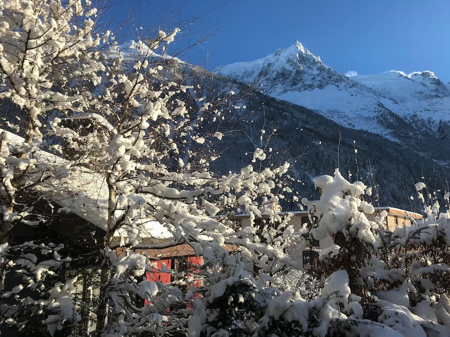 Chalet Mont Blanc view 17/12/2017