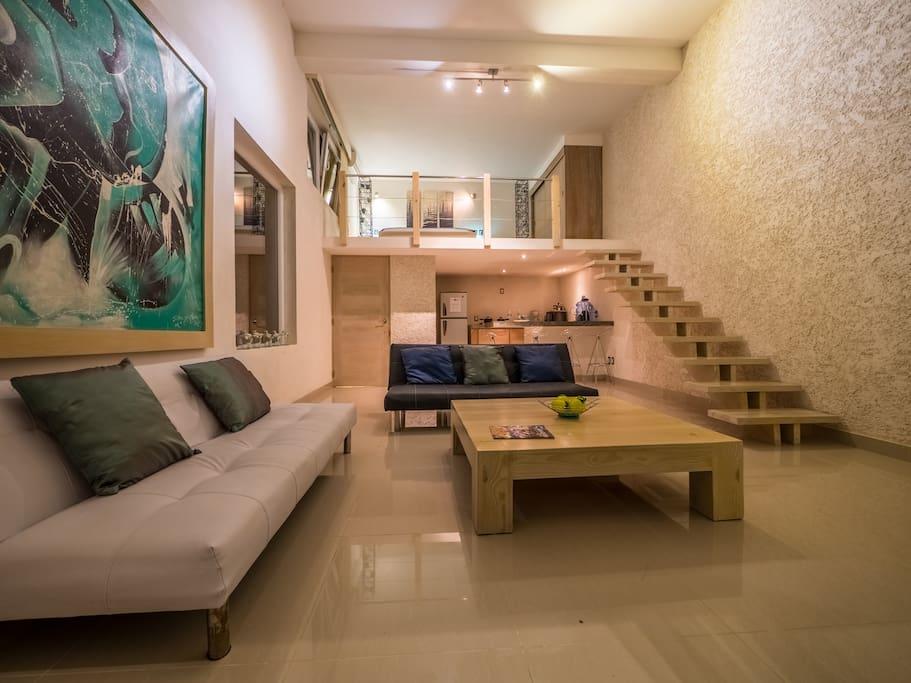 loft with mezzanine