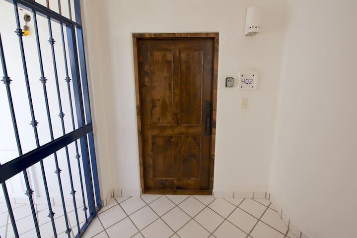 Front door to Mykonos 402A