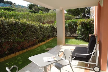 New flat for 2pers Swimming pool, A/C, Parking - Biot - Huoneisto
