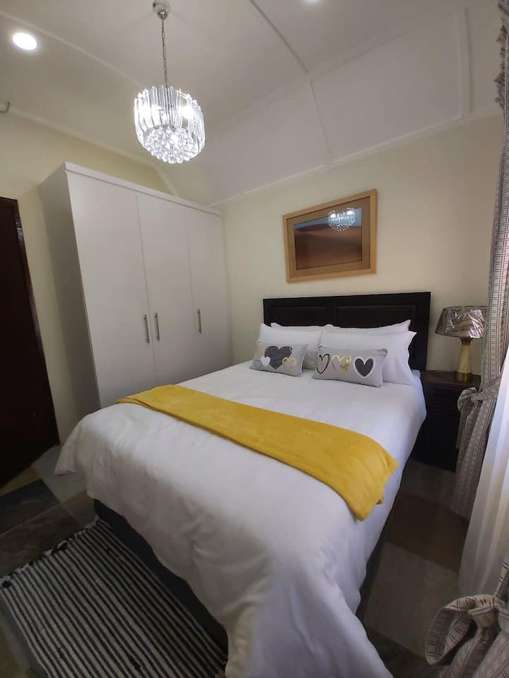 Upstairs apartment, self catering suite for two.